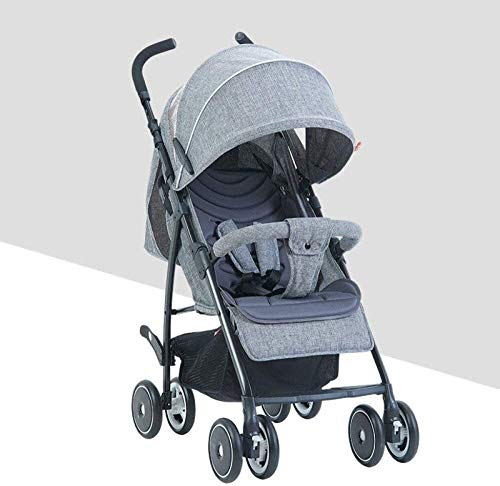 LAMTON Baby Stroller for Newborn, Baby Pushchair,Folding Summer Stroller Lightweight Infant Travel Buggy,80 * 48 * 28/cm (Color : Gray) LAMTON Adjustable handlebars for people of all heights can adjust the most comfortable push position Easy to fold, can be picked up in the trunk of the car, his parents urge him to go shopping, travel, walk, play and talk, or picnic outdoors ★ The weight is 5.2kg,Folded size:80*48*28/cm(31.5*19*11/inches) 1