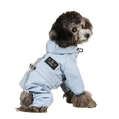 Msy yien ペット用 レインコート ポンチョ 防水 小型犬 中型犬 犬の服 ペット用品 雨具 軽量 可愛い 帽子付...