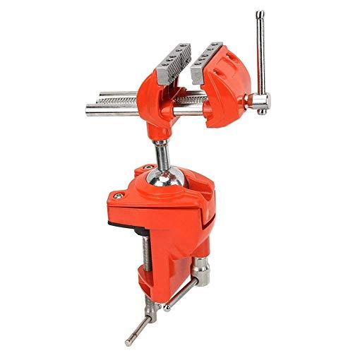Mini tornillo de banco de abrazadera giratoria de 360 ° Tornillo de banco giratorio de doble eslabón giratorio para trabajo pesado, aluminio, tornillo de banco ajustable de 70 mm de ancho de mordaza