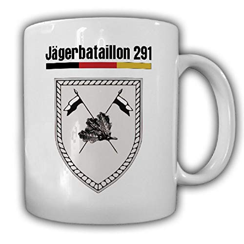 Jägerbataillon 291Jäger BW Wappen JgBtl DF Brig Donaueschingen - Tasse #18676