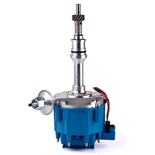 Premium Ignition HEI Distributor with 65K Volt Coil 1030213 PE330U Compatible with Ford SBF Small Block 260 289 302 Blue Cap