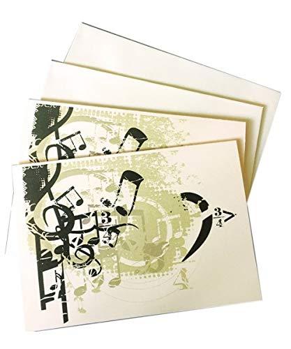 Muziekgeschenken: Bedrijf Boxed briefpapier 10 Notelets & Envs - Muziek Ontwerp