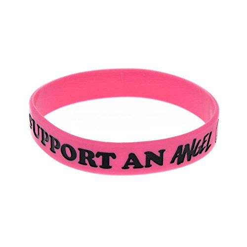 North King Gift Silicone Hand Bracelet With Logo I Support an Angel On It soft Silicone Bracelet Decorative Souvenir