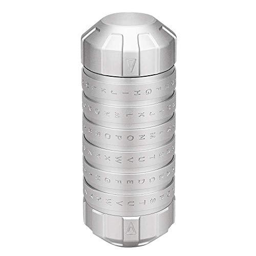 MKJ da Vinci Chiffriersperre Paar Passwortsperre Kreative 520 Valentinstag Geburtstagsgeschenk Aluminiumlegierung, Silber, 125 * 51 mm