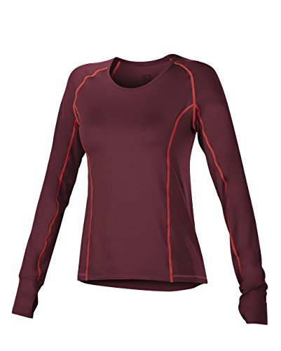 Lowest Price! Noble Outfitters Mariah Long Sleeve Crew - Wine, Large