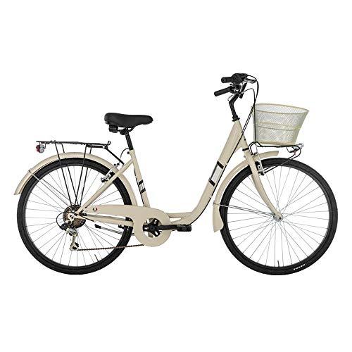 Alpina Bike Venere, Bicicletta da Città Donna, Panna, 26