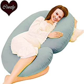 COOZLY C LYTE Grey Pregnancy Pillow 229 X 115 X 22 cm Fine Cotton Covers with Fibres C8 Wgt-3.5 Kg- Greyprm