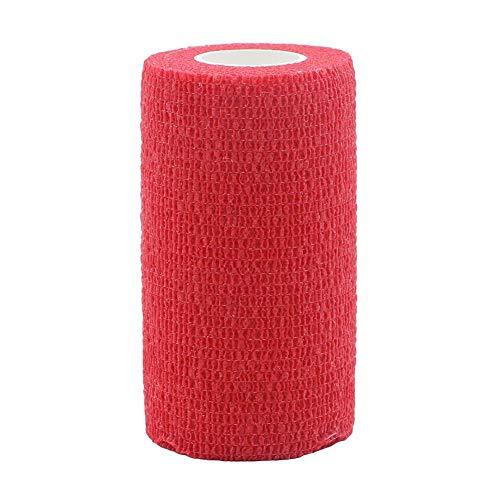 6 stks/set sport bescherming elastische band 2.5/5 / 7.5/10 * 450cm kleur geweven stof zelfklevende elastische bandage