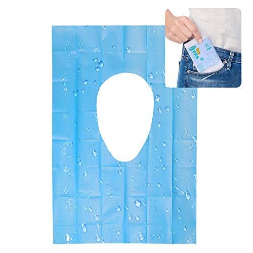 Copriseduta per WC usa e getta - 30 pezzi Set da viaggio Copriseduta per WC Portatile da Viaggio Impermeabili Confezionati Singolarmente per Adulti Bambini Vasino Bagno Pubblico, 3 Confezioni