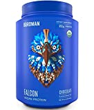 Birdman Falcon Protein, 22gr Organic Plant Based Protein Powder, 2.18 lb, 33 Servings, BCAAs, Chocolate Flavor, Vegan, Gluten-Free, Kosher, Non-GMO, Raw