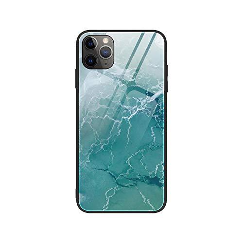 Hopereo - Carcasa de cristal templado para iPhone 11 Pro Max Xs Max X Xr de madera granulado de vidrio para iPhone SE 2020 6 6S 7 8 Plus