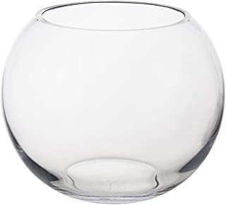 Mega Vases Bubble Fish Bowl Vase 7 Inch x 5.75 Inch, Decorative Clear Glass with Sturdy Base, Wedding Centerpieces, Flower Bouquets, Home Décor, Celebrations, Parties, Event Planning, Arts & Crafts
