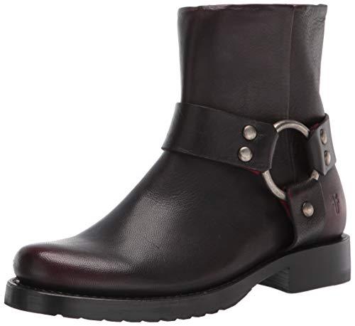 Frye Women's Veronica Harness Short Ankle Boot, Black Scarlet, 10
