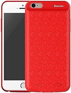 غطاء ايفون 7 مع بطارية مدمجة 2500 ميللي أمبير  أحمر