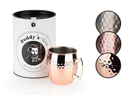 Buddy'sBar - Taza MoscowMule, 550ml,taza de acero de alta calidad con revestimiento...
