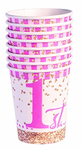 Forum Novelties X79817 anniversaire (1st) Tasse, Rose