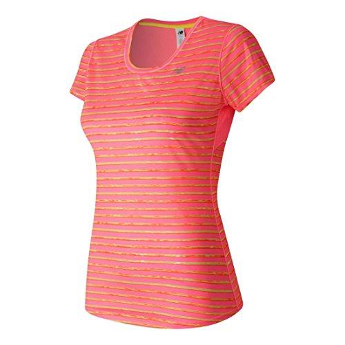 New Balance T-Shirt Graphique à Manches Courtes Accelerate pour Femme - Goyave - Taille S