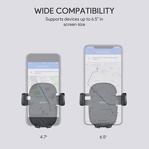 AUKEY Car Phone Mount Air Vent Phone Holder for Car Compatible with iPhone 11 Pro/11/Xs/8/7/6, Galaxy S10/S10+/S9/S9+, Note 10,LG,Huawei,Pixel and Other