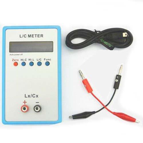 Nadalan LC200A Misuratore di portata portatile con induttanza di test ad induttanza di alta precisione + adattatore 5V + cavo USB mini + clip di prova speciale