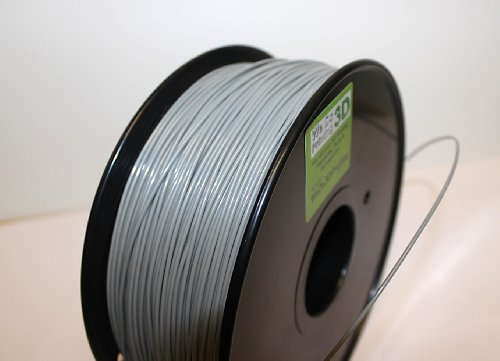 Filamento para Impresora 3D PLA de 3 mm, Color Gris, 10 m, Reprap 3,00 mm