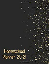 Homeschool Lesson Planner 2020-2021 Multiple Kids: Weekly & Monthly Record Book for Teaching Multiple students | black cov...