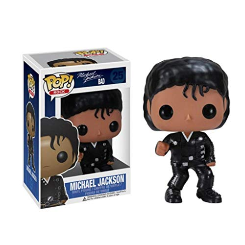 YYBB ¡Popular!Rock Star: Michael Jackson en Malo Exclusivo Vinilo Figura Crafts Figuras Colección Figurines