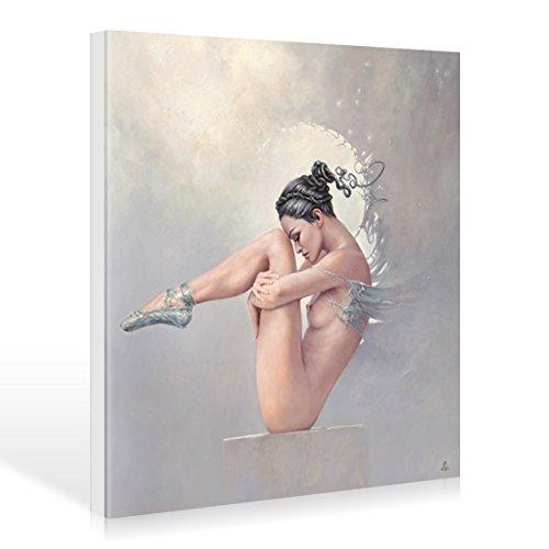 Leinwandbild Karol Bak - Disappointment - 70 x 70cm - Premiumqualität - Fantastische Kunst, People & Eros, Frau, Akt, nackt, Balletttänzerin, phanta.. - MADE IN GERMANY - ART-GALERIE-SHOPde
