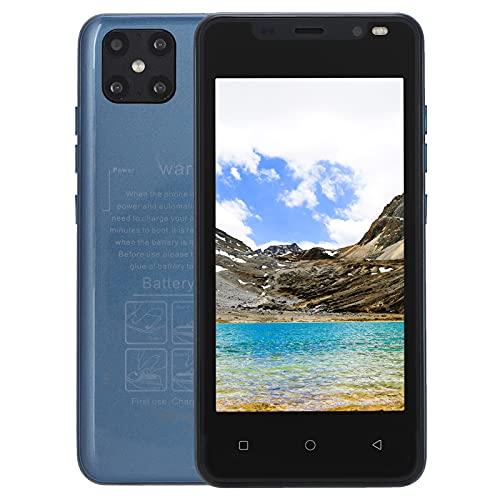 Kudoo Teléfono Móvil Libre 3G, 4.66' Android Smartphone Libre, Dual SIM & Dual Cámara, 512MB RAM + 4GB ROM, 128GB Ampliable, Batería 1500mAh[Clase de eficiencia energética A+++](Azul)