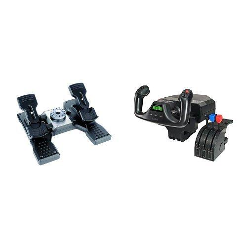 Pack Logitech G Saitek PRO Flight Rudder Pedals + Logitech G Saitek PRO Flight Yoke System