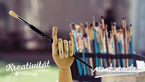 MONT MARTE Gliederhand – Modellhand aus Holz – linke Hand – 25,4 cm – Flexible Holzhand, ideal als Model zum Zeichnen - 5