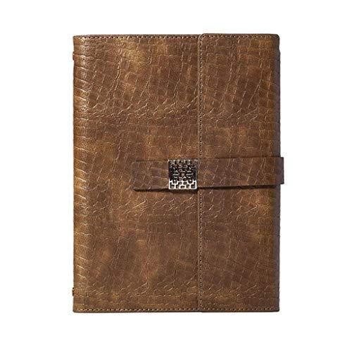 JIALI Cuaderno LF Simple Espesado Exquisito Estudio Bloc de Notas Oficina Diario Ordenar (Color: Marrón, Tamaño: 17.5 * 23.8cm) (Color: Rosa, Tamaño: 17.5 * 23.8cm)