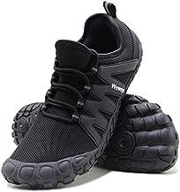 Weweya Minimalist Shoes Men Five Fingers Cross Training Barefoot Running Shoes Powerlifting Shot Put Bunions Shoe Size 13 Black