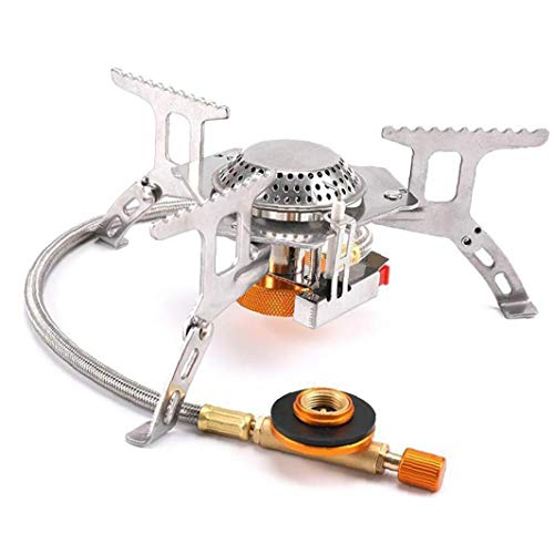 Camping Gas Stove Portable Backpacking Fuel Burner Folding Electronic Windproof for Outdoor Accessories Gear