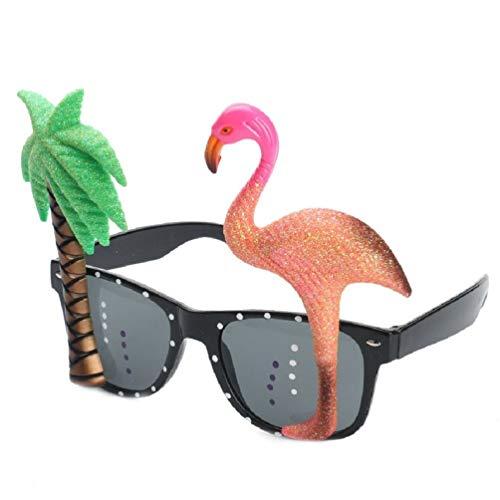 Bag-Best Gafas de Sol Tropicales Hawaianas Gafas de árbol de Flamenco Divertidas Gafas de Juguete para Disfraces