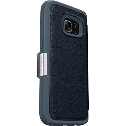 OtterBox Strada Series Schutzhülle für Samsung Galaxy S7 Edge (Leder, Geldbörsen-Stil, nur Großpackung), Night Cannon Blue