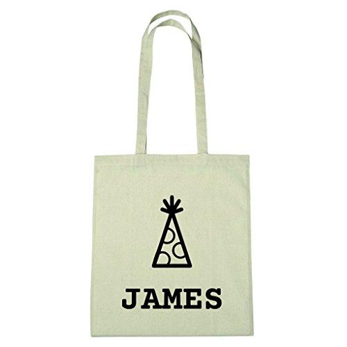 JOllify katoenen tas - Happy Birthday voor JAMES - BHB5448 Hoed