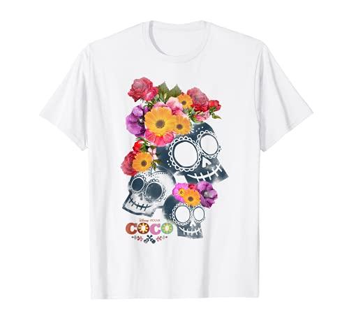 Disney Pixar Coco Calaveras Floral Skulls Graphic T-Shirt