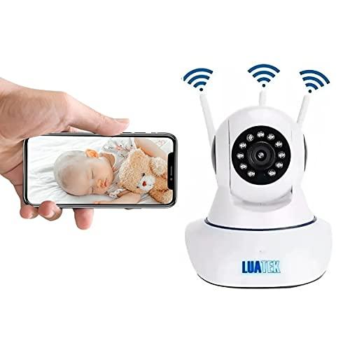 Babá Eletrônica Wifi C/Câmera Visão Noturna 3 Antenas