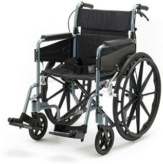 Days Escape Wheelchair, Self Propelled, Standard, Silver Blue