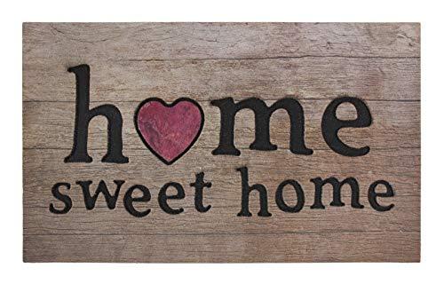 andiamo Gummifußmatte Fußabtreter Sauberlaufmatte - 100{5d7f41ce3a0951e48f2335f6044ee8e3246200b402842380bdf2589c63b76238} Gummimaterial Anti-Rutsch Funktion Outdoor - 45 x 75 cm, Größe:45 x 75 cm, Farbe:Home Holz