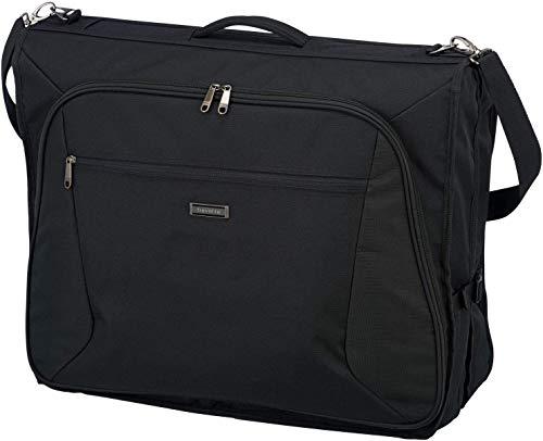 travelite große Kleidertasche für mehrere Anzüge und Hemden, Gepäck Serie MOBILE: Knitterfrei reisen mit der Kleidersack Anzugtasche CLASSIC, 001719-01, 110 cm, 60 Liter, schwarz