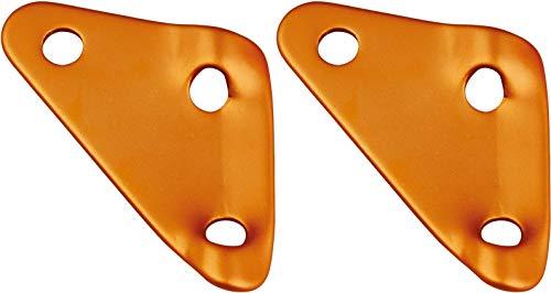 AceCamp Lot de 2 tendeurs à 3 trous, tendeurs de tente, accessoires de tente, tendeurs en aluminium, tendeurs de câble, lot de 20, orange, 91179
