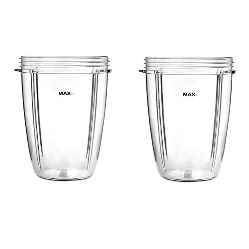 Poweka 24oz Cups for Compatible with Nutribullet Accessories 600W 900W Blender Juicer Mixer Replacement Parts(2 Pack)