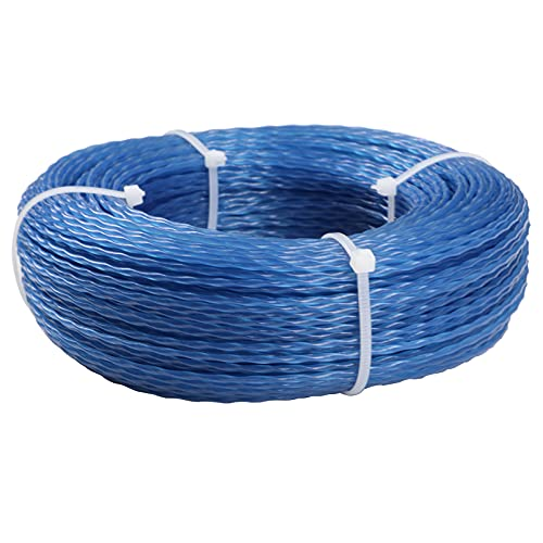 NUOOO Trimmer Line for Grass Strimmer, Trimmer Wire Twist Strimmers String 2MM Replace Weed Cutter Cord Trimmer Lines Weed Eater Strings Wires Cords (2.0mmx50M)
