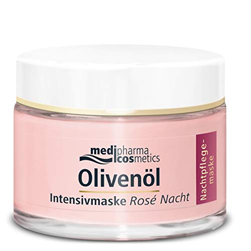 Medipharma Cosmetics cosmetics OLIVENÖL INTENSIVMASKE Rose Nachtcreme, 1er Pack(1 x 50 milliliters)