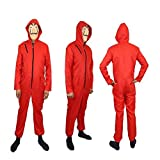 Money Robbery Dali Cosplay Costumes Hoodie Jumpsuit of The Paper House La Casa De Papel with Mask (2xl, Red)