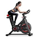 Dripex Indoor Cycling Bike Stationary Exercise Bike All-inclusive Belt Drive Bicycle Home Cardio Trainer with Smart LCD Display & Adjustable Resistance for Full Body Work Out and Home Gym Fitness