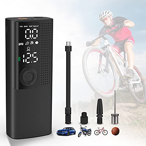 Vastar Portable Air Compressor Tire Inflator Mini - Cordless Electric Pump for Motorcycles Cars Bicycles Basketball with 2000mAh Lithium Battery 20Litres / Min