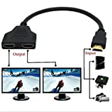Cable divisor HDMI de Yi-Ya, 1080P, 1 puerto macho a 2 hembra, HDMI HD, LED, LCD, TV, 30 cm