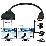 Yi-Ya Câble HDMI 1080P Câble répartiteur HDMI Câble mâle vers 2femelles 1en...